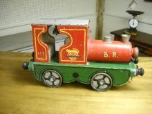 English painted circus train