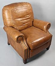 SHERRILL MOTIONCRAFT LEATHER RECLINER