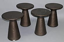GROUP OF FOUR DEDON OUTDOOR SIDE TABLES