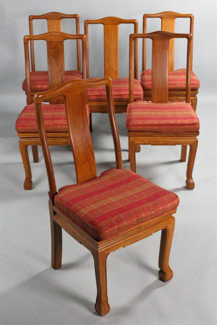 SET OF SIX MODERN ASIAN STYLE DINING CHAIRS WITH CUSHIONS : H1122 L92483240 from www.invaluable.co.uk size 750 x 1121 jpeg 93kB