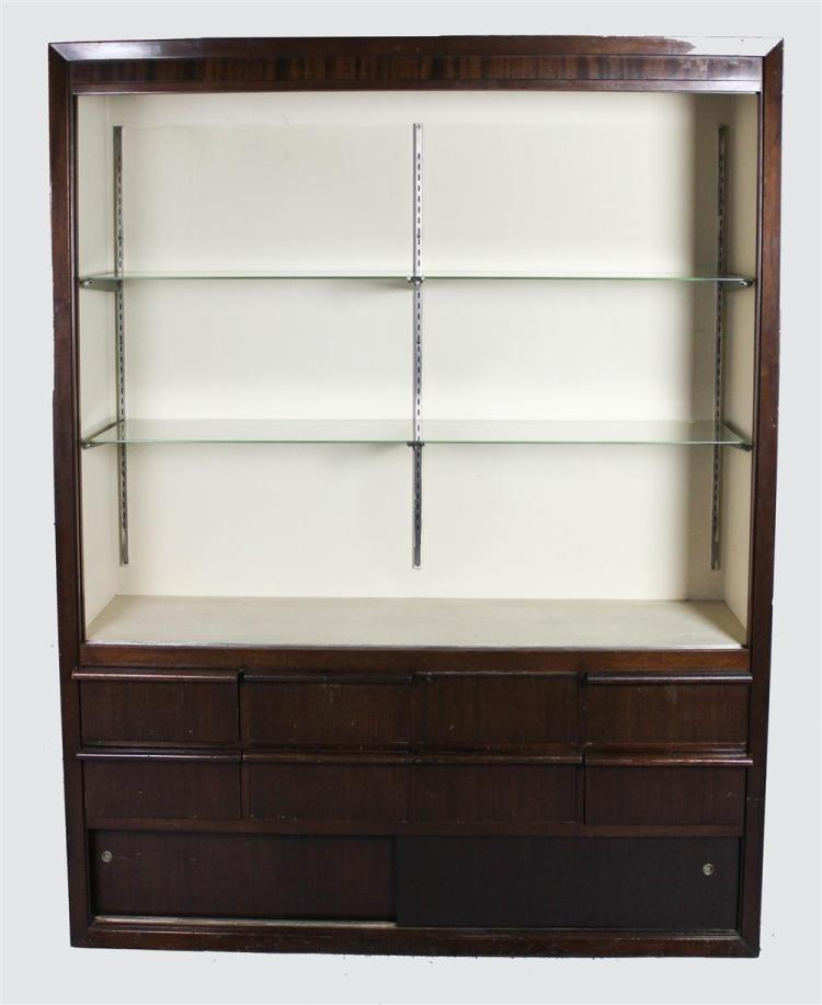 Modern display cabinet with glass shelves for Contemporary display shelves