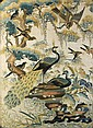 CHINESE FRAMED SILK EMBROIDERED PANEL