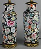 CHINESE FAMILLE ROSE MILLEFIORI LAMPS