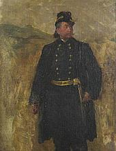 STYLE OF EDOUARD DETAILLE (FRENCH, 1848-1912) FRENCH MILITARY OFFICER Oil on canvas: 11 x 8 in. (sight)