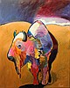 MALCOM FURLOW (AMERICAN, 20TH CENTURY) BISON ON THE PLAIN Acrylic on canvas: 58 x 46 in., Malcolm Furlow, Click for value