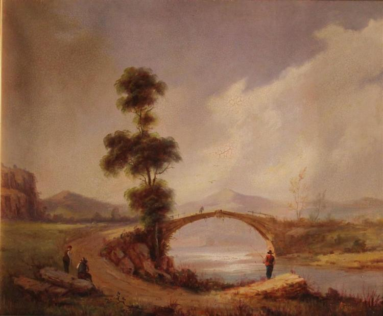 A. PUIG (19th/20th CENTURY) LANDSCAPE Oil on canvas: 20 x 24 in.