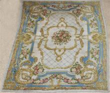 LARGE AUBUSSON STYLE PILE WOOL RUG