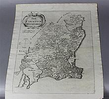 GROUP OF EIGHT LOOSE MAPS OF ENGLAND AND IRELAND