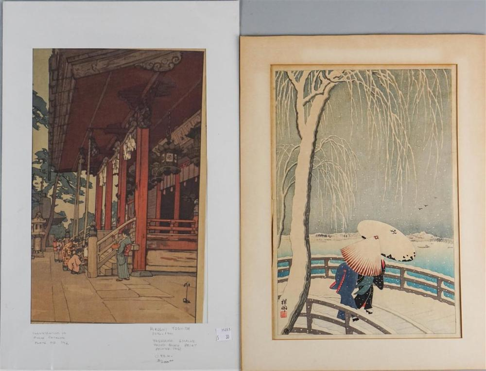 FIVE EARLY 20TH CENTURY JAPANESE WOODBLOCK PRINTS: SHOSON