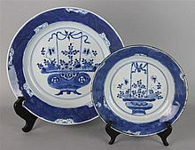 TWO CHINESE UNDERGLAZE BLUE AND WHITE
