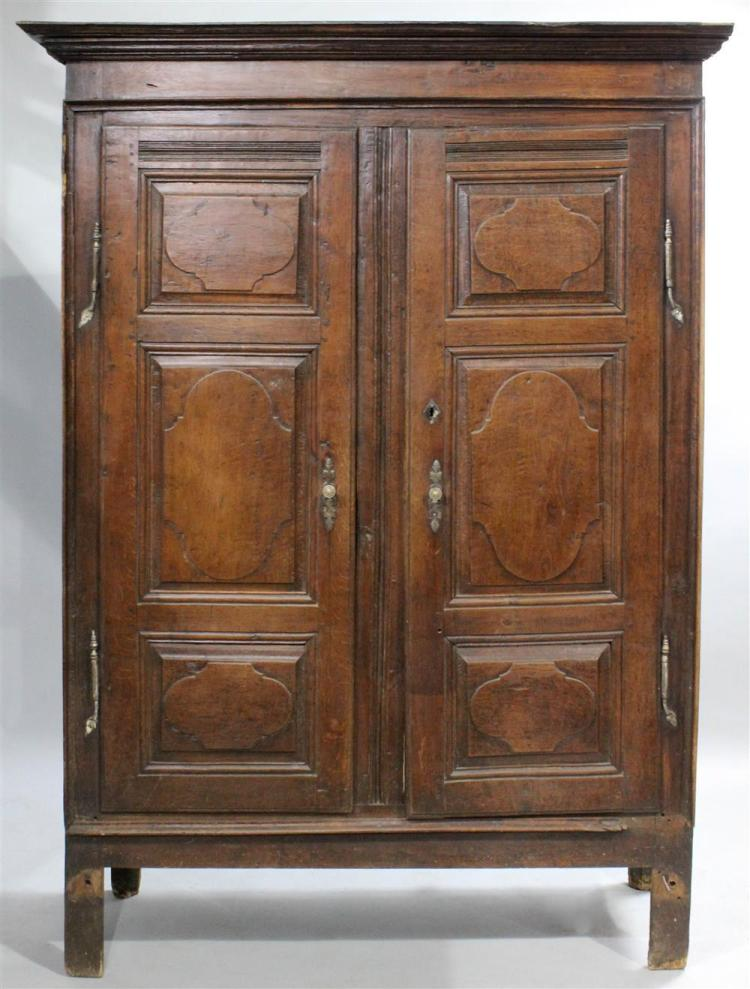louis xiv style carved oak armoire. Black Bedroom Furniture Sets. Home Design Ideas