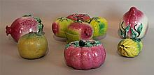 GROUP OF SIX CHINESE TEMPLE FRUIT, QING DYNASTY