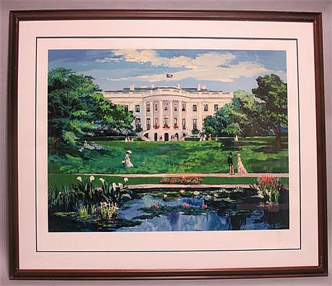 MARK KING (AMERICAN, 1931-) WHITE HOUSE Print: 31 1/4 x 38 3/4 in. (sight)