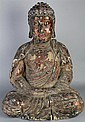 DRY LACQUER WOOD SCULPTURE OF THE BUDDHA