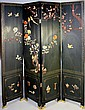 CHINESE HARDSTONE-INLAID FOUR PANEL SCREEN