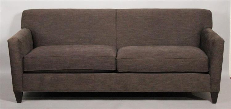 Crate barrel brown aubergine tweed two seater sofa for Furniture 4 a lot less