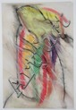 PAUL REED (AMERICAN, 1919-?) ABSTRACT Mixed media on paper: 16 x 12 in., Paul Reed, Click for value