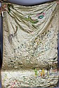 LATE 19TH/EARLY 20TH C. LARGE CHINESE SILK EMBROIDERY ON SILK TEXTILE