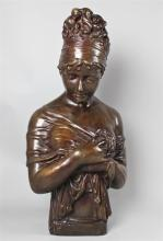 BRONZE BUST OF MADAME RECAMIER, AFTER CHINARD, 19TH/20TH CENTURY