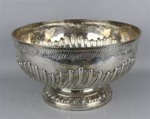 WILLIAM IV SILVER PUNCH BOWL