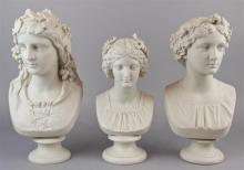 THREE NEOCLASSICAL STYLE PARIAN BUSTS
