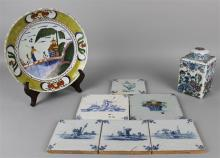 GROUP OF DUTCH DELFT CERAMIC ARTICLES