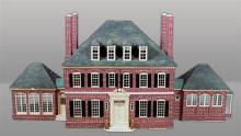 LARGE CUSTOM FEDERAL STYLE DOLLHOUSE BASED ON 'THE TULIP HOUSE'