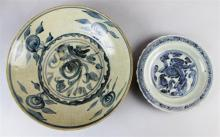 SWATOW UNDERGLAZE BLUE AND WHITE DEEP DISH, LATE MING DYNASTY