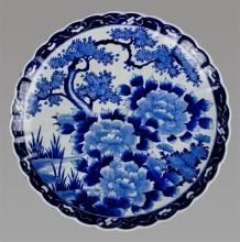 JAPANESE ARITA UNDERGLAZE BLUE AND WHITE CHARGER, MEIJI PERIOD, LATE 19TH CENTURY