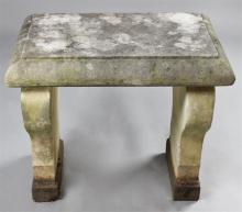 CEMENT AND MARBLE GARDEN SEAT
