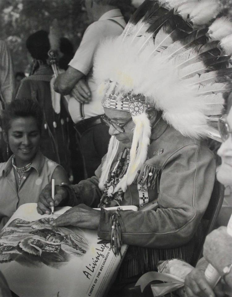 STEPHEN A. GAMBARO (AMERICAN, 1923-) CHIEF WEBSTER CUSTELOW, MATTAPONI, 1995 Photograph: 19 x 15 1/4 in.