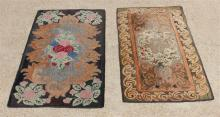 TWO ANTIQUE HOOKED RUGS