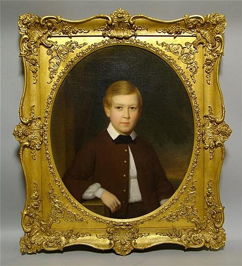 JOHN BEALE BORDLEY (AMERICAN, 1800-1882) PORTRAIT OF A YOUNG BOY POSSIBLY FROM THE CUSTIS LEWIS FAMILY Oil on canvas: 30 x 25 in.
