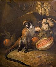 STILL LIFE OF FRUIT WITH A MONKEY Giclee: 23 1/2 x 19 1/2 in.