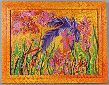 JACK BARON (AMERICAN, 1926-2005) FLOWERS Acrylic on canvas: 18 x 24 in.