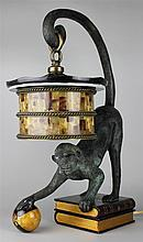 MAITLAND SMITH MONKEY WITH BALL ON BOOK LAMP