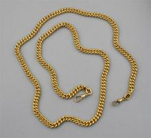 22K YELLOW GOLD LINKED WATCH CHAIN
