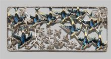 BELLE EPOQUE BROOCH WITH ROSE-CUT DIAMONDS AND ENAMELED BLUEBIRDS