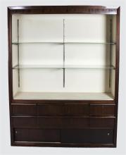 MODERN DISPLAY CABINET WITH GLASS SHELVES