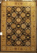 TRADITIONAL BLACK ORIENTAL RUG