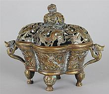 CHINESE QUATRILOBED CENSER AND COVER