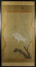 JAPANESE PAINTING OF AN EGRET