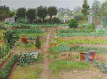 JEAN CLAUDE COURTAT (FRENCH, 1941-) VEGETABLE GARDEN Pastel on paper: 20 x 27 1/2 in. (sight)