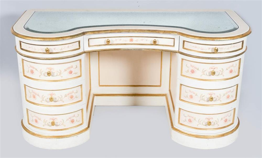 VICTORIAN STYLE CREAM AND WHITE PAINTED DRESSER