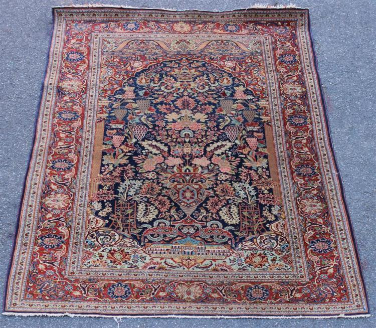 Prayer Rug Company: PERSIAN VASE AND GARDEN WOOL PRAYER RUG