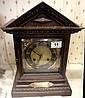 Brass Faced Wooden Mantle Clock, Presentation
