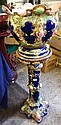Early 20th century Majolica Pottery Jardinare and