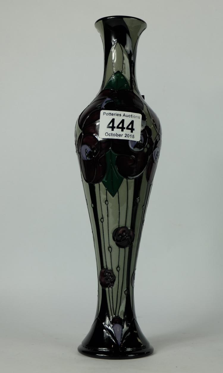 Moorcroft Vase Decorated In The Rennie Rose Design 2014 He