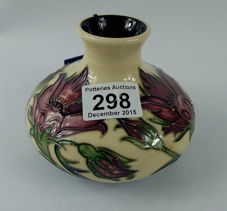 Moorcroft Vase Decorated In The Pulsatilla Design Dated 2010