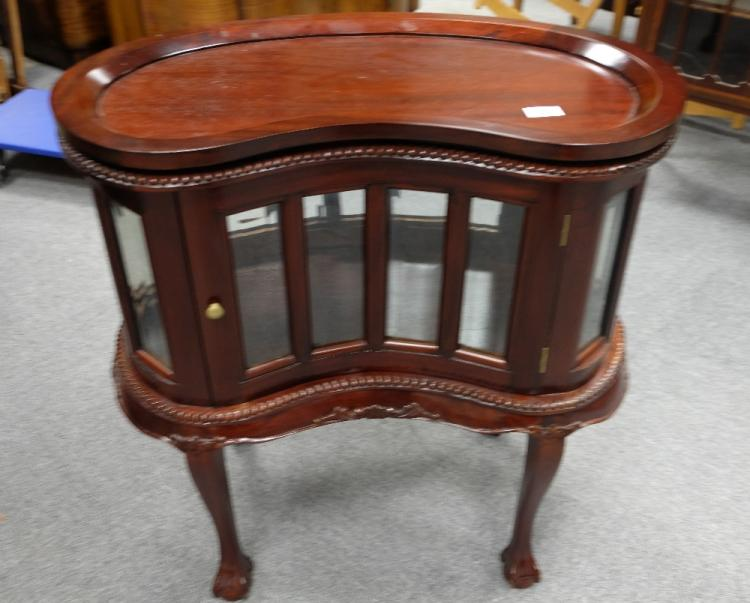 - Reproduction Small Kidney Shaped Drink Cabinet